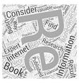 Finding Re Financing Information Word Cloud vector image vector image