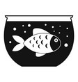fish aquarium icon simple style vector image vector image