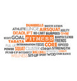fitness word cloud concept text is outline vector image vector image