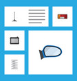flat parts set of car segment heater auto vector image vector image