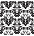 floral black and white paisley seamless pattern vector image vector image