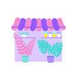 flower shop vector image