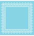 frame snowflakes vector image vector image