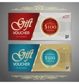 Gift voucher template with colorful patterncute vector image