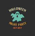 halloween party emblem template logo badge vector image