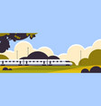 high speed train railway product goods shipping vector image
