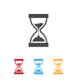 hourglass icons with color variation vector image vector image