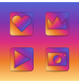 instagram 3d icons concept square shape app vector image vector image