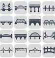 isolated bridges icons set vector image