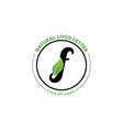 letter f with leaf logo green leaf logo icon vector image vector image