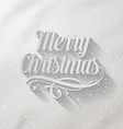Merry Christmas lettering with long shadow vector image vector image