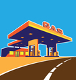 modern petrol station vector image vector image