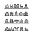modern urban city landscapes on white background vector image vector image