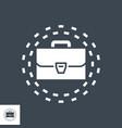 portfolio glyph icon vector image vector image