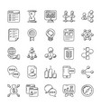project management doodle icons set vector image