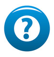 question mark sign icon blue vector image vector image