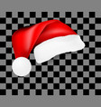 realistic santa claus hat with shadow template vector image