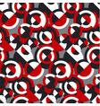 retro style circular geometric seamless pattern vector image vector image