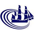 Sailing ship 18 vector image vector image