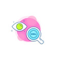 scroll down button line icon scrolling screen vector image vector image
