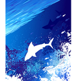 sea underwater background vector image vector image