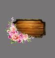 set floral arrangements vector image vector image