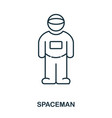 spacemen icon flat style icon design ui vector image