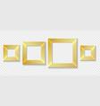 square golden frames set vector image vector image