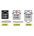 stayhome emblem set vector image