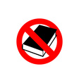 Stop book It is forbidden to read Frozen vector image