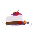 sweet piece of cake vector image