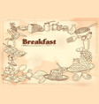 template different types breakfast item vector image vector image