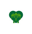tree and love environmental care logo vector image