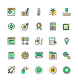 user interface and web colored icons 9 vector image