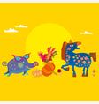 village animals vector image vector image