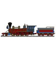 vintage american steam locomotive vector image vector image