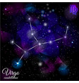 virgo constellation with triangular background vector image vector image