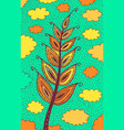 wheat - floral colorful plant vector image vector image