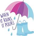 When It Rains vector image vector image