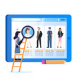 woman hold magnifier various occupation avatar vector image vector image