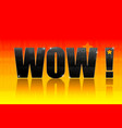 wow text vector image