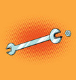 wrench work tool vector image