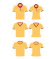 yellow shirt for men and women vector image vector image