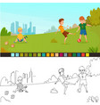 coloring page kids composition vector image