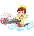 shooting little baby angel vector image