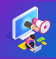 3d isometric flat customer engagement or vector image