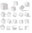 a set of cube icons with a perspective 3d cube vector image vector image