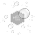 Abstract water drops isolated on white vector image vector image
