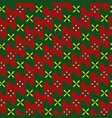 acient pattern gentle colors of red green vector image vector image
