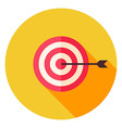 Aim with Arrow Circle Icon vector image